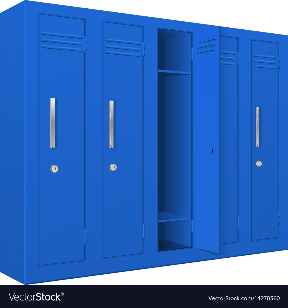 Blue school lockers vector image