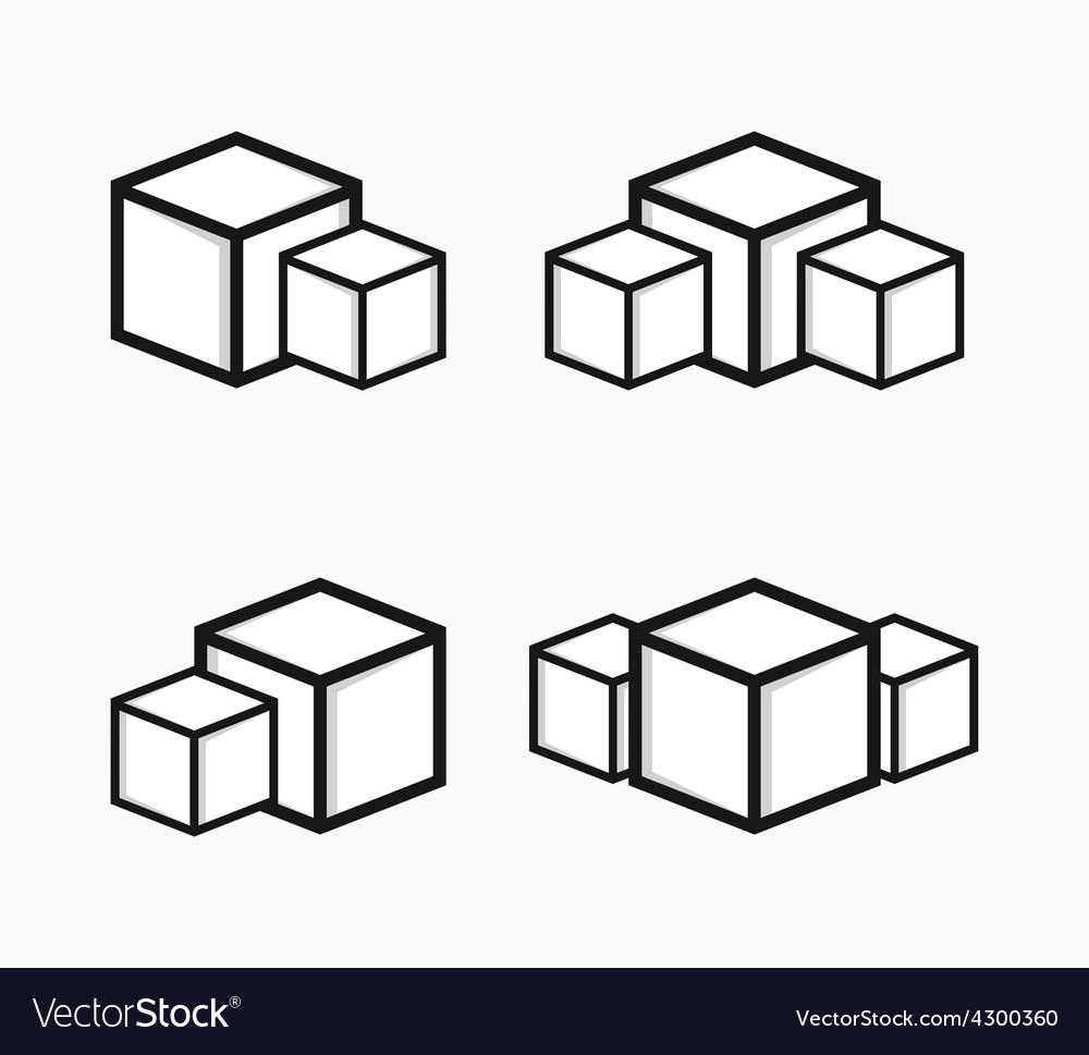 Sugar logo or symbol icon vector image