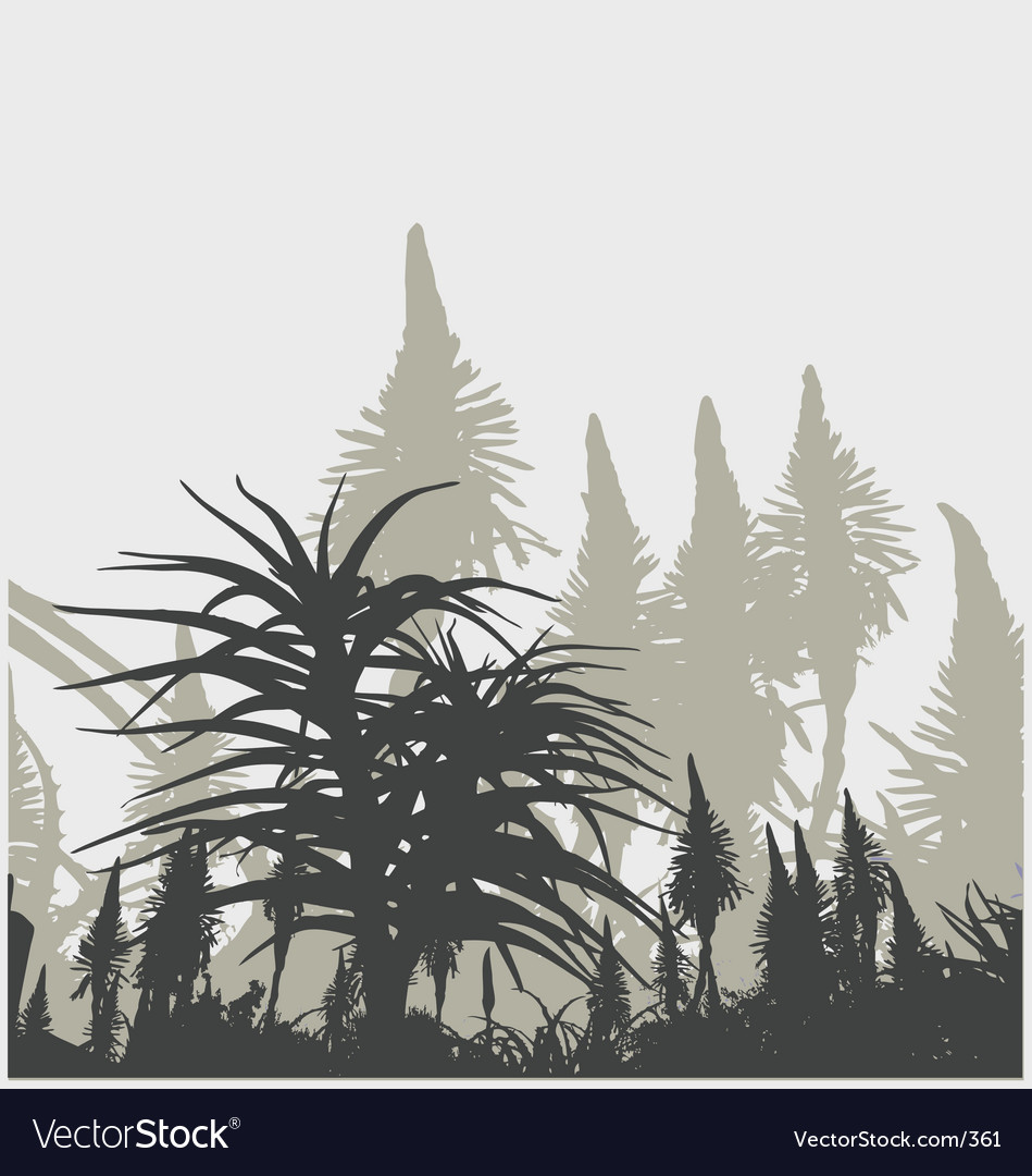 Plant life vector image