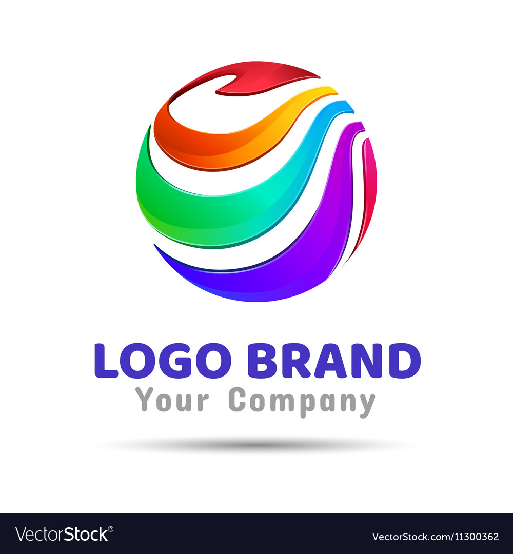 Colorful circle creative concept Template Color vector image