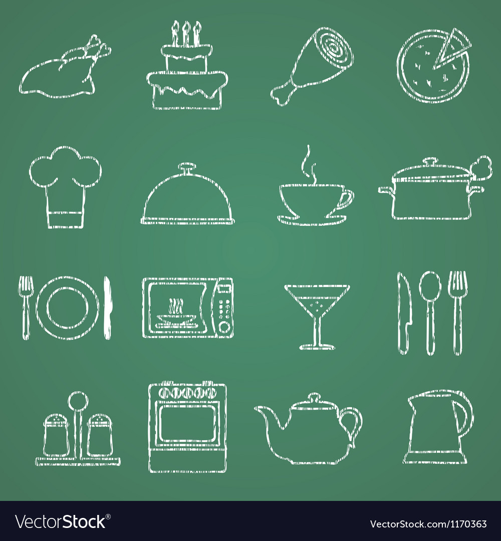 Pictures of kitchen facilities vector image