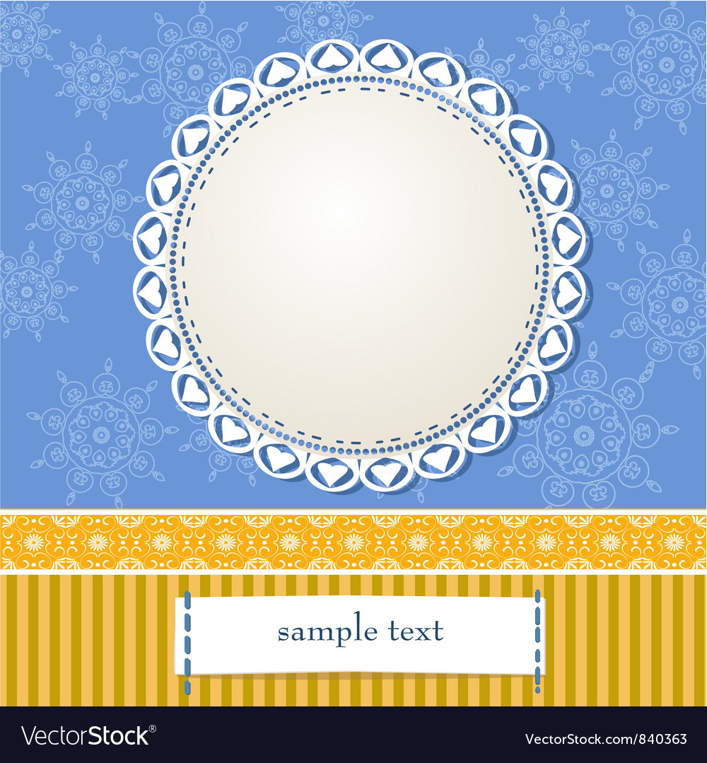 Arabesques Frame Design vector image