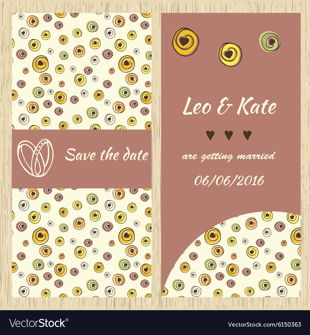 Template for invitation card vector image