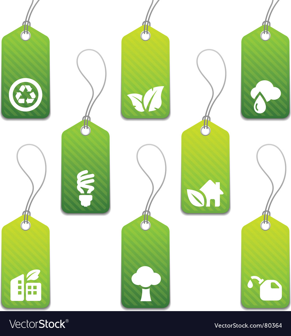 Eco tags vector image