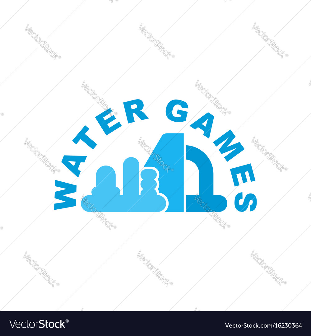 Water games logo emblem for inflatable park vector image
