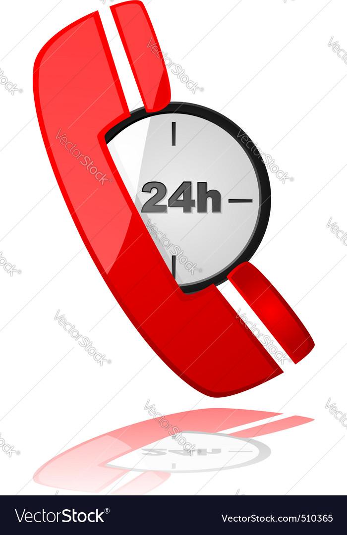 Emergency phone vector image