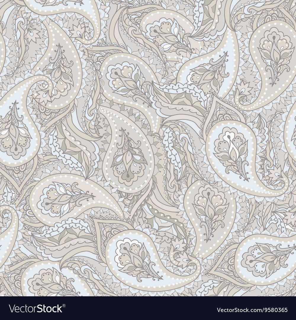 Seamless paisley Indian pattern vector image