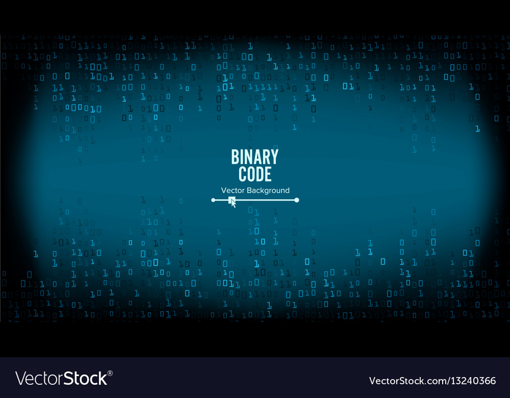 Binary code background algorithm binary vector image
