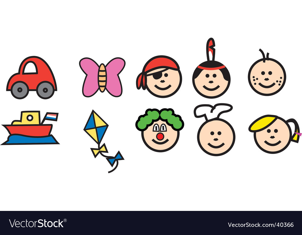 Child like doodles vector image