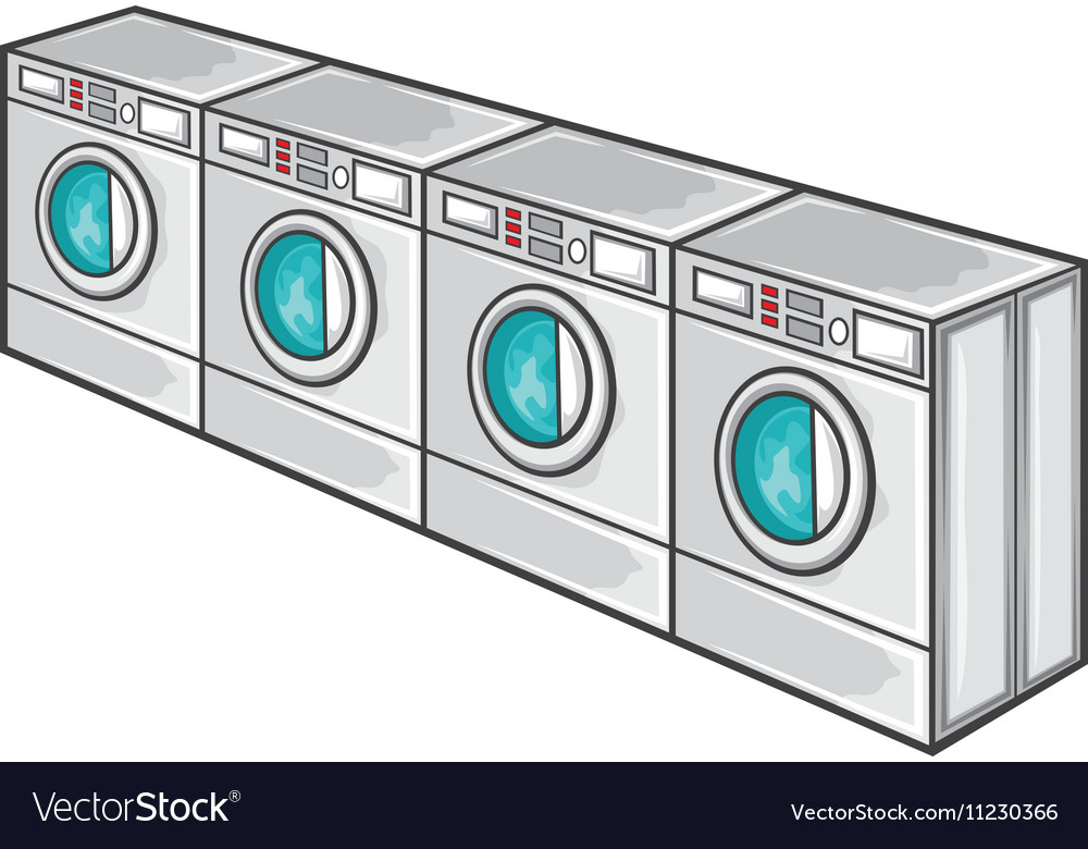 Laundry Machine Line vector image