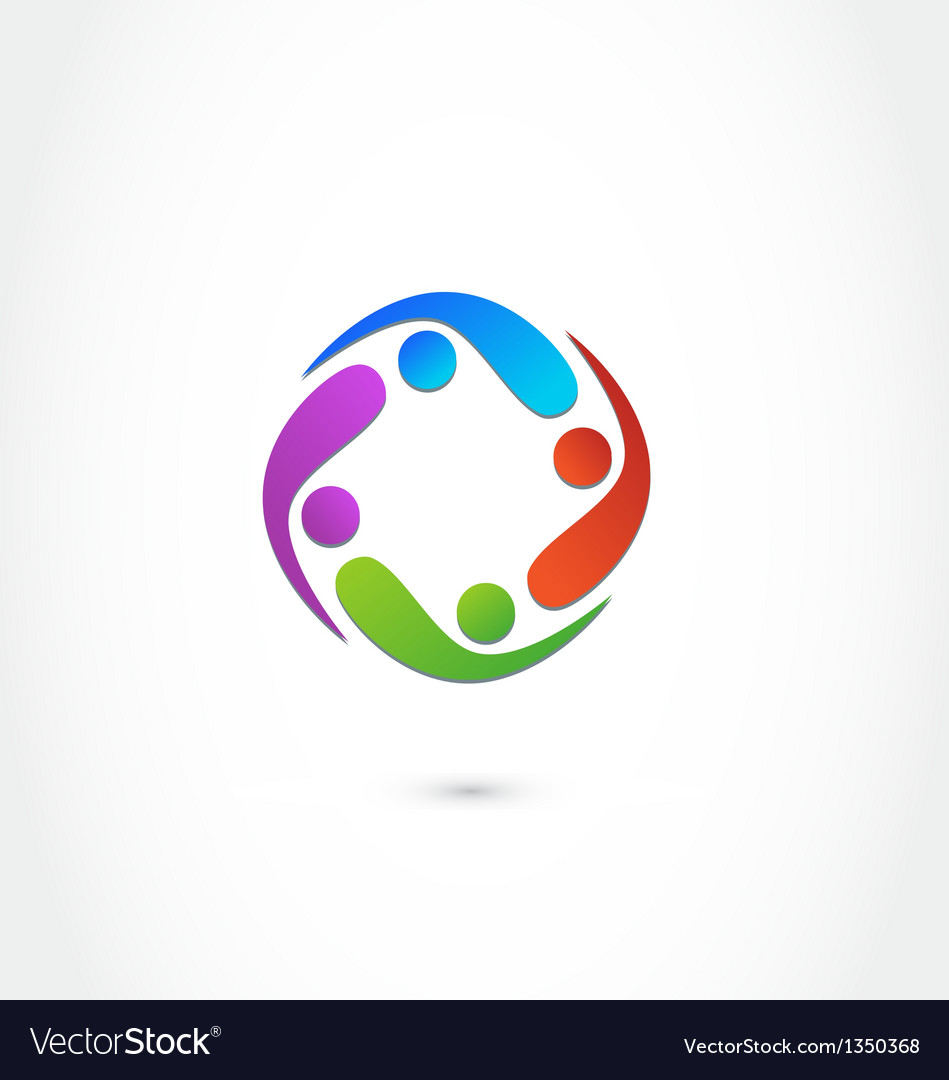 Teamwork business logo vector image