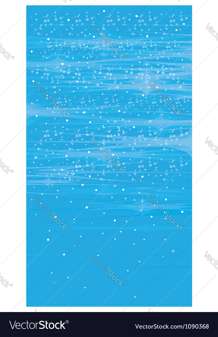 Abstract blue background snowy pattern vector image
