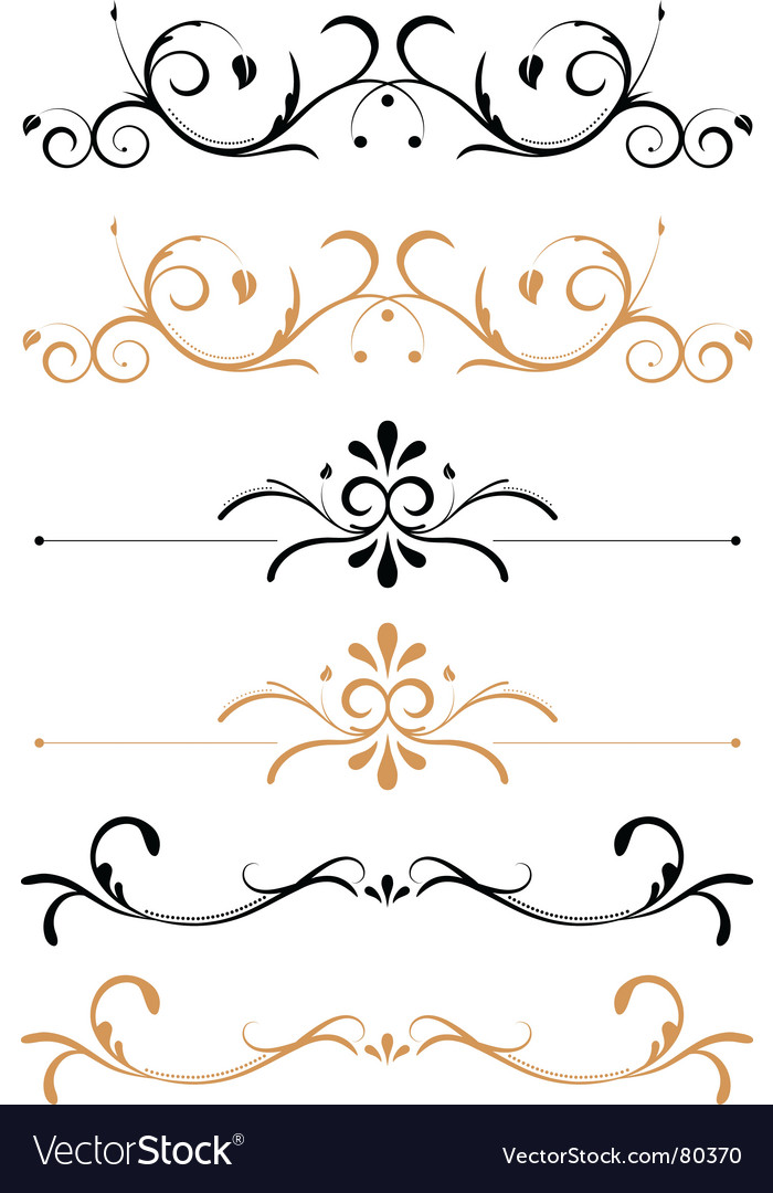 Floral page decorations vector image
