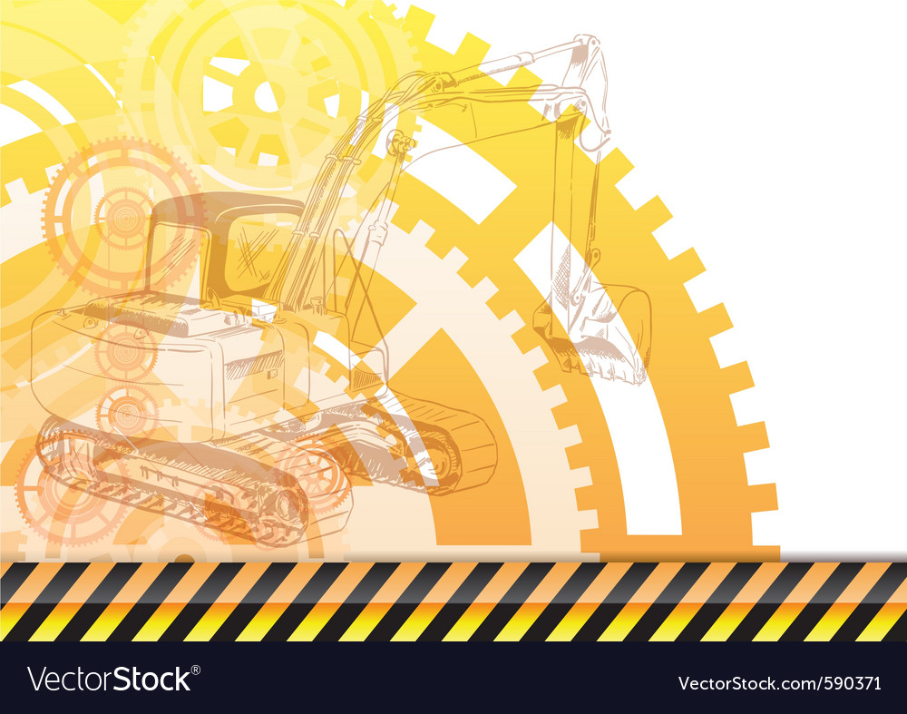 Construction background vector image