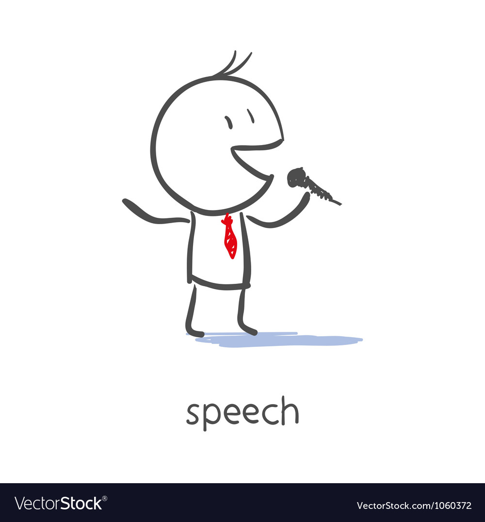 Businessman Talking On Microphone vector image