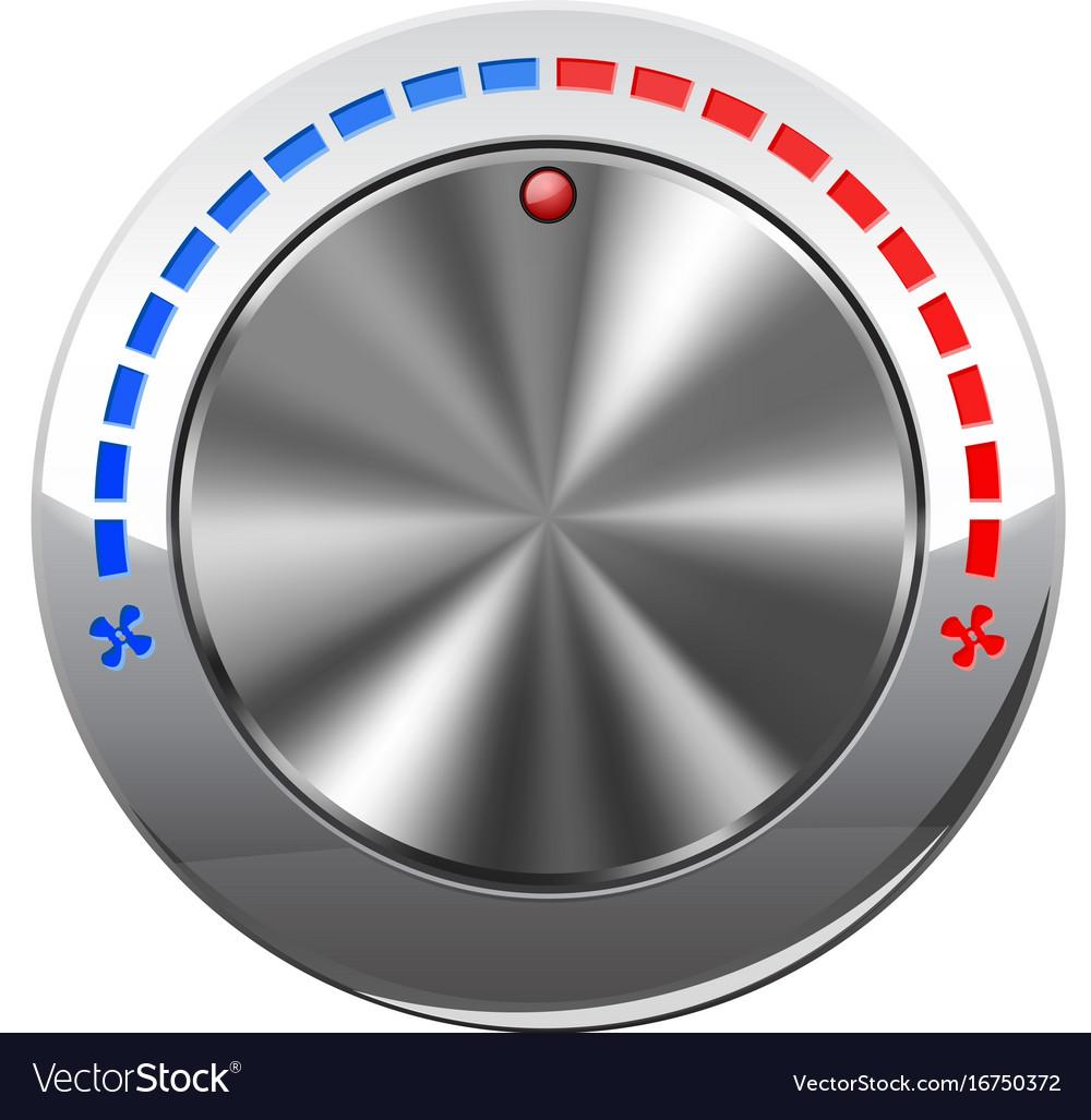 Air temperature selector car dashboard chrome vector image