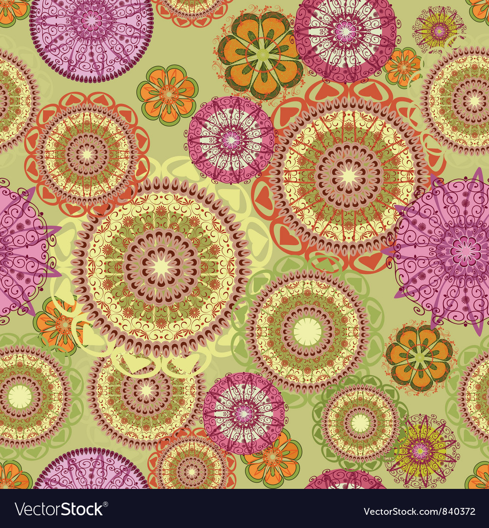 Arabesques seamless pattern vector image
