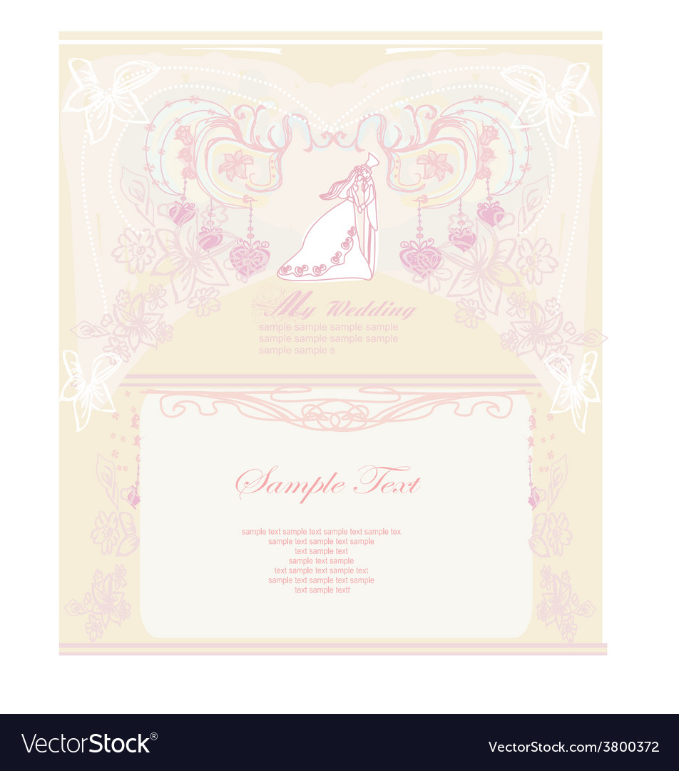 Wedding invitation acceptance letter sample picture ideas references wedding invitation acceptance letter sample elegant wedding invitation with wedding couple vector image stopboris Image collections