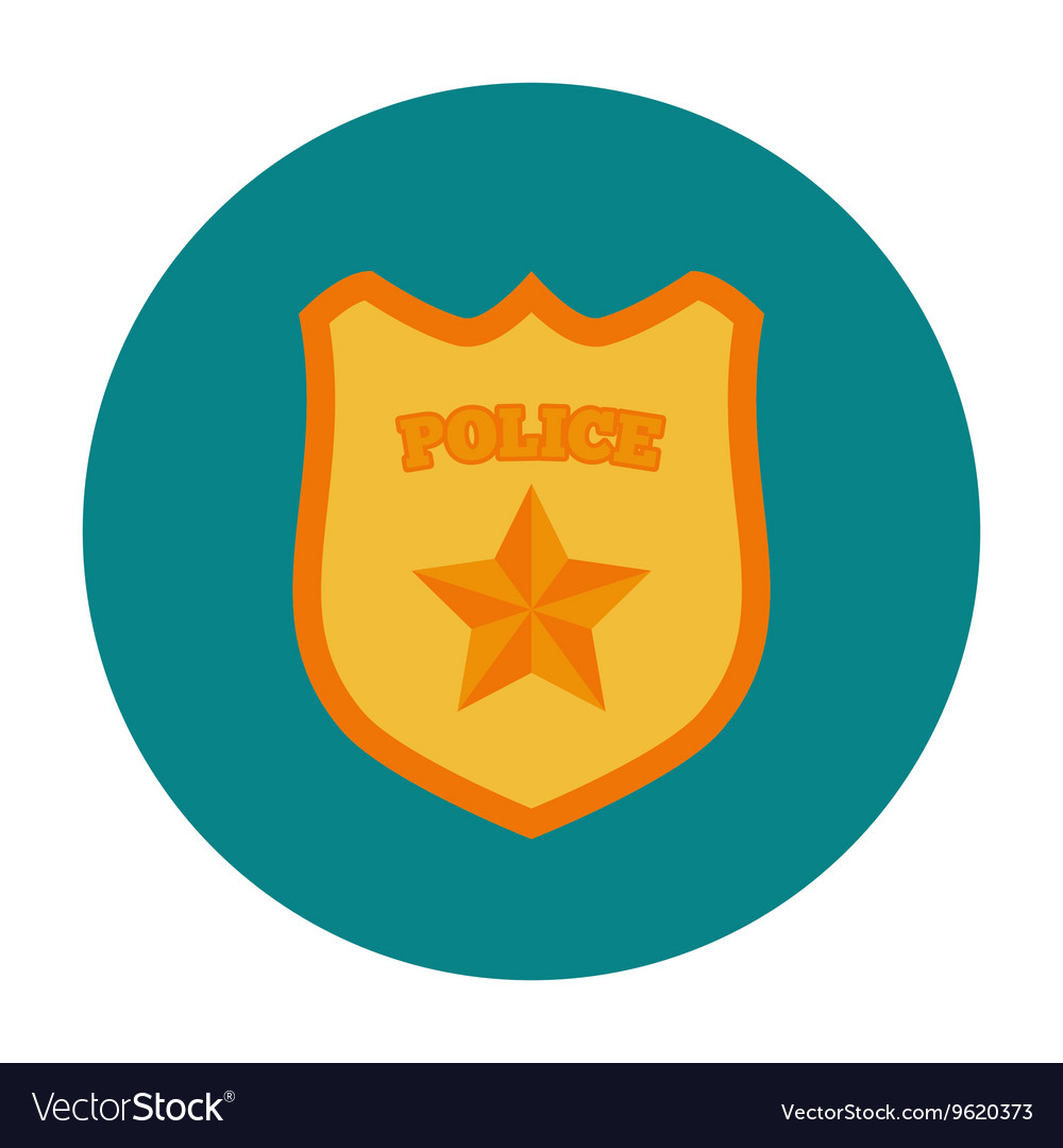 Police badge flat icon vector image