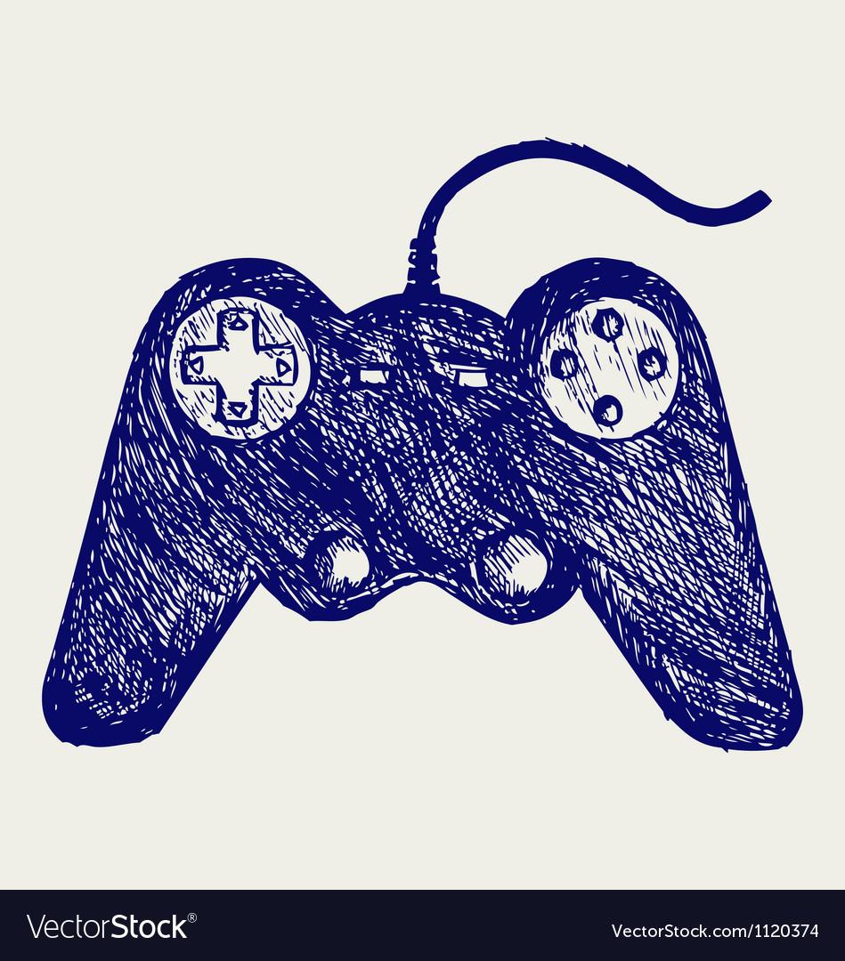 Gamepad joystick game controller vector image