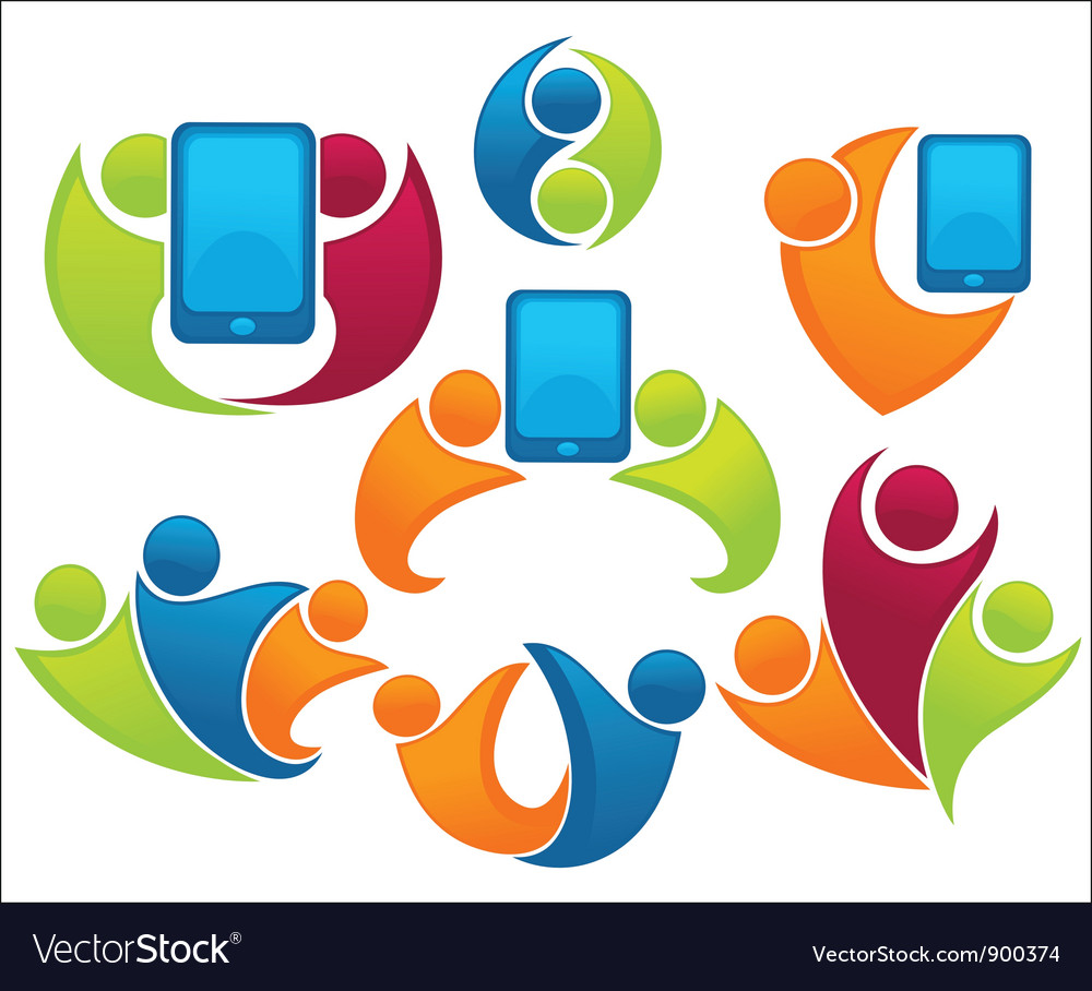 Collection of connection and communication vector image