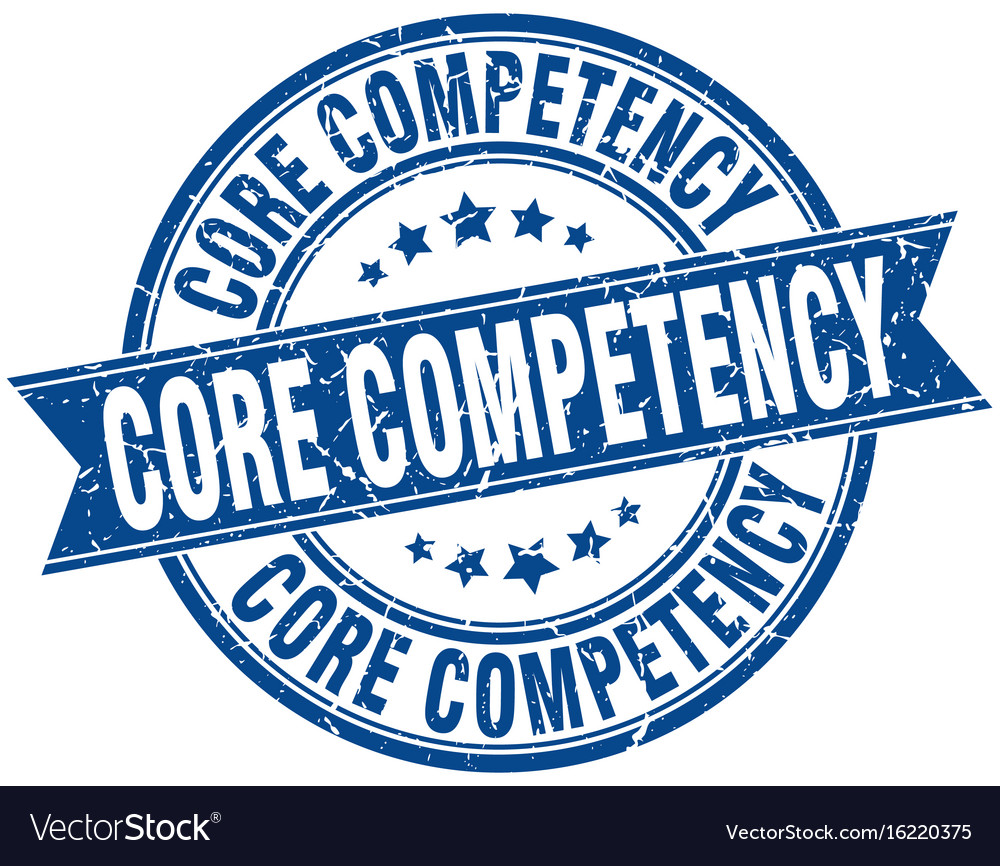 Core competency round grunge ribbon stamp vector image