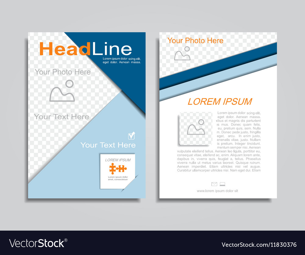 Brochure design layout vector image