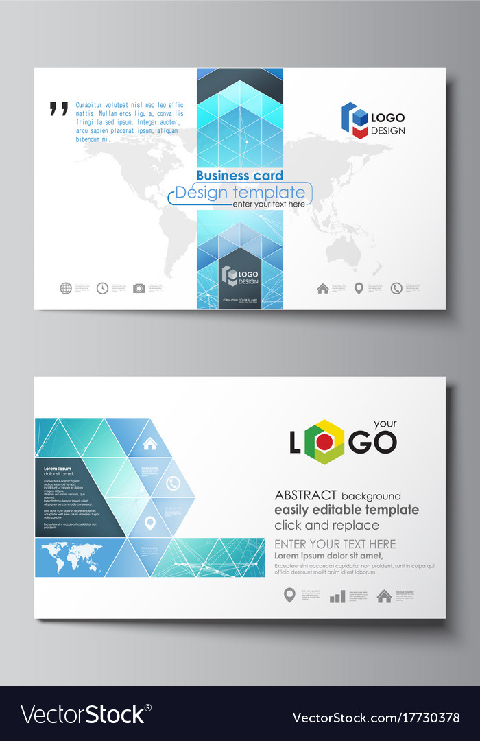 Business Card Templates Easy Editable Layout Vector Image - Easy business card template