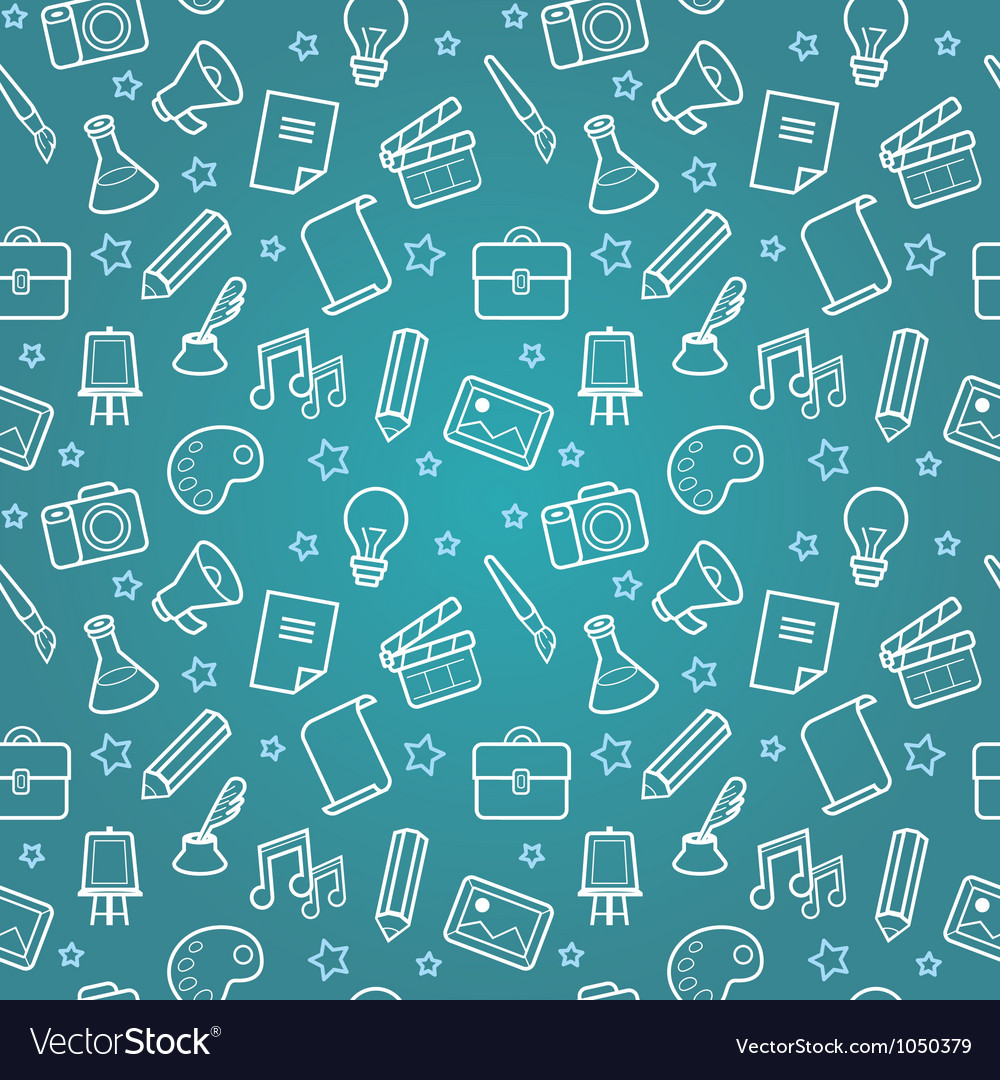 Dreative seamless pattern vector image