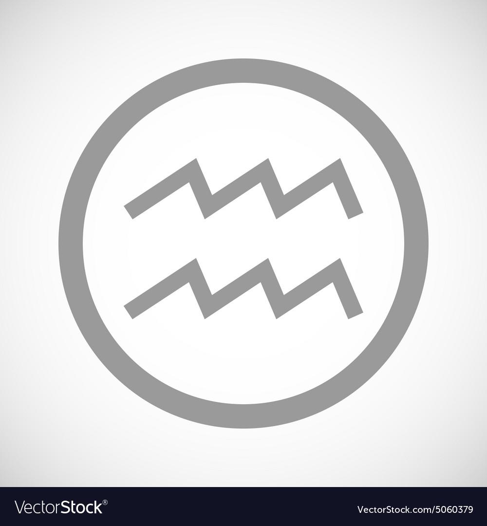 Grey aquarius sign icon royalty free vector image grey aquarius sign icon vector image biocorpaavc Choice Image