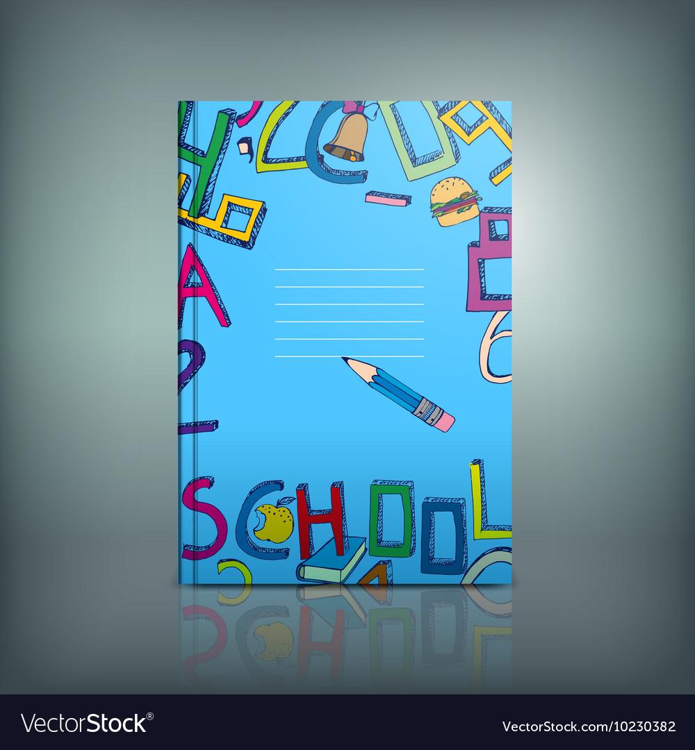 School Test Book 03 B vector image