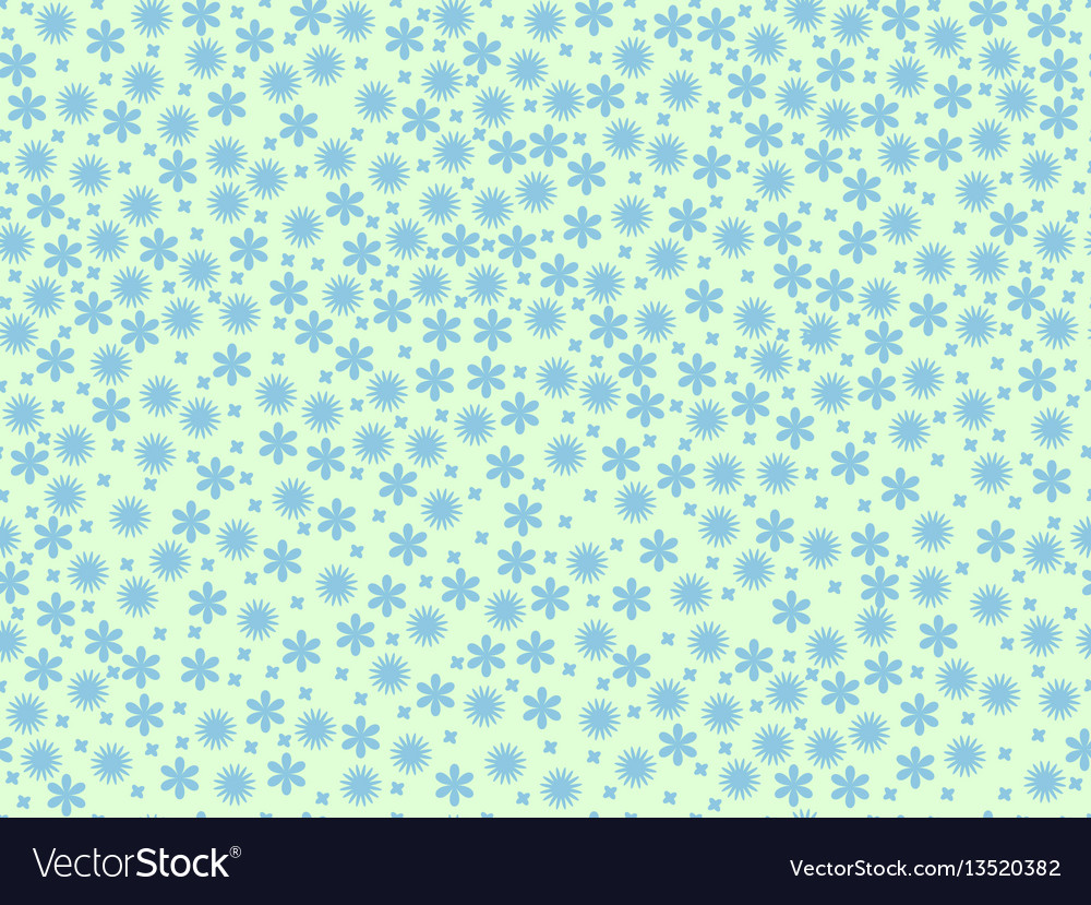 Spring seamless pattern with flowers daisies vector image