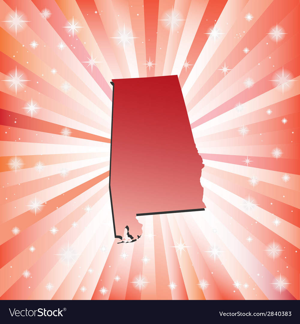 Red Alabama vector image