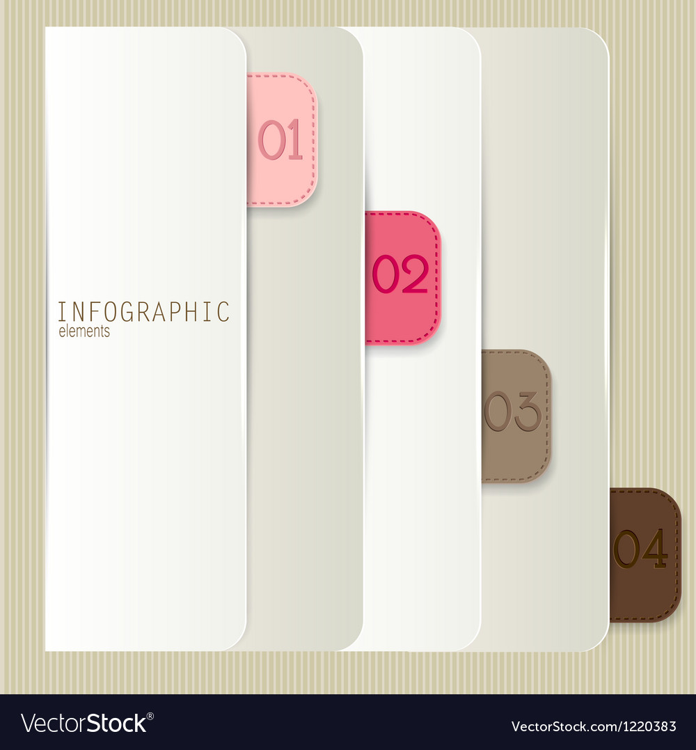 Set of bookmarks stickers labels tags Numbered vector image