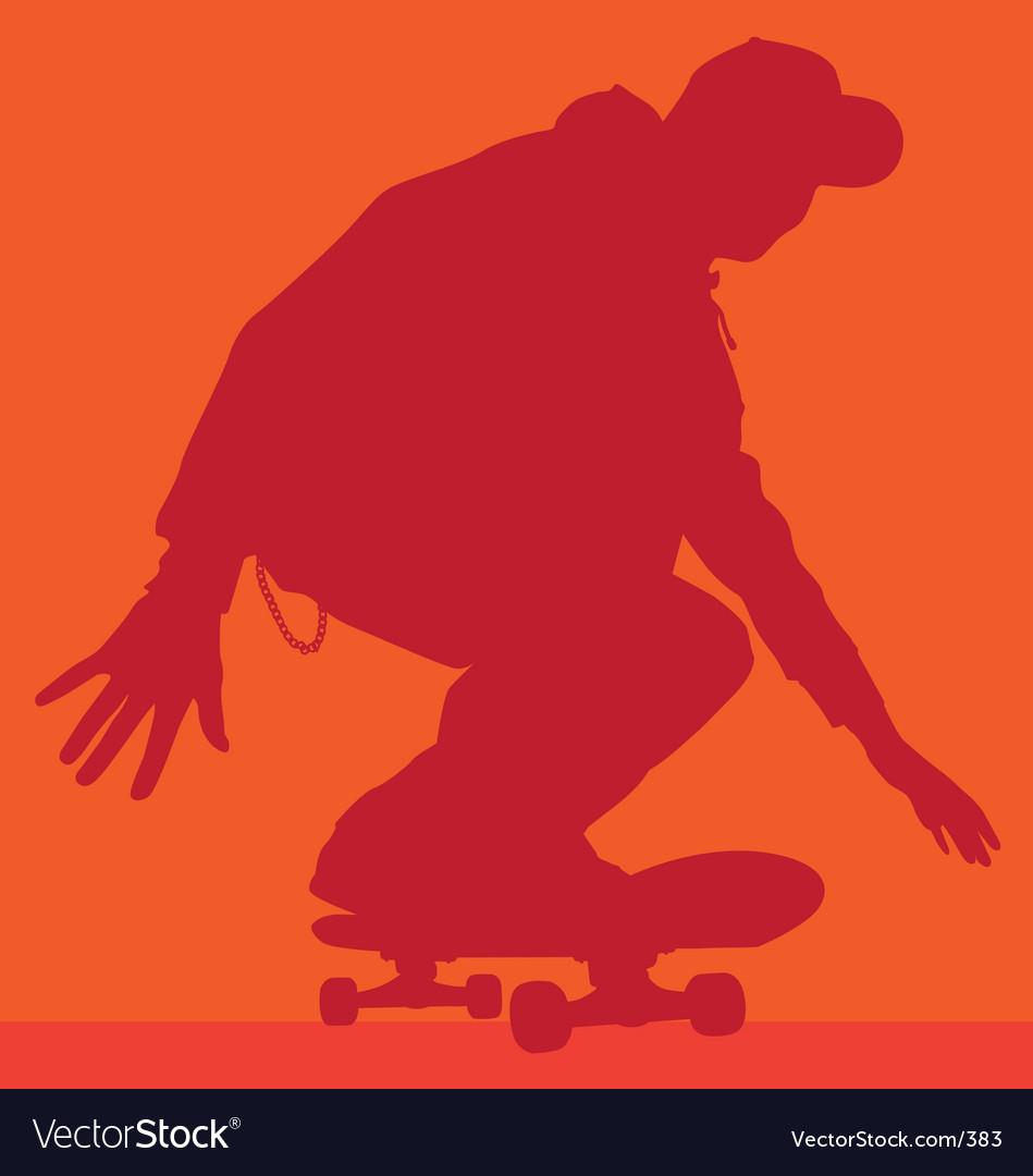 Skateboarder rolling vector image