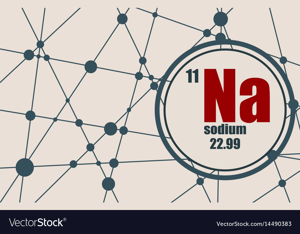 Sodium chemical element vector image