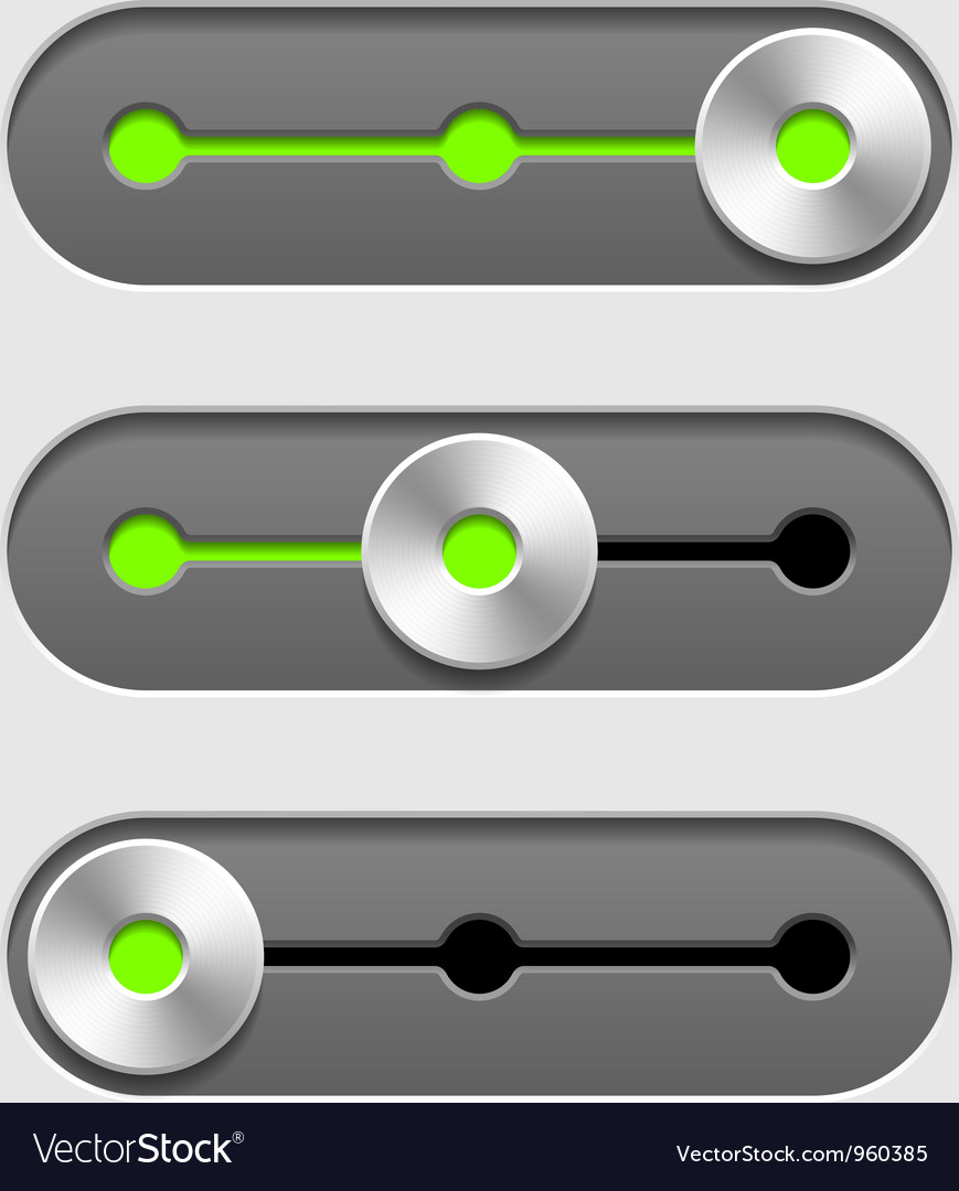 Sliders vector image