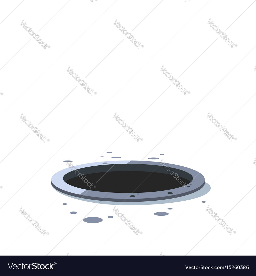 Hole torn in the paper or metal background design vector image