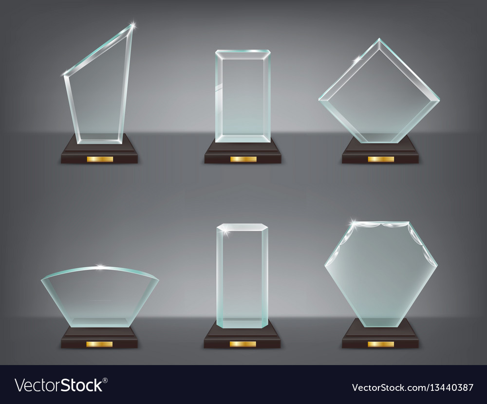 Collection of modern glass vector image