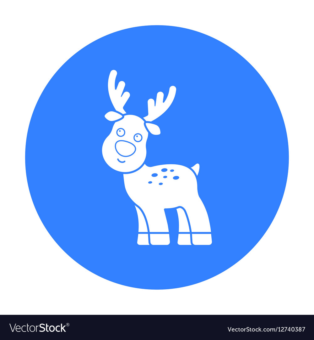 Deer black icon for web and mobile vector image