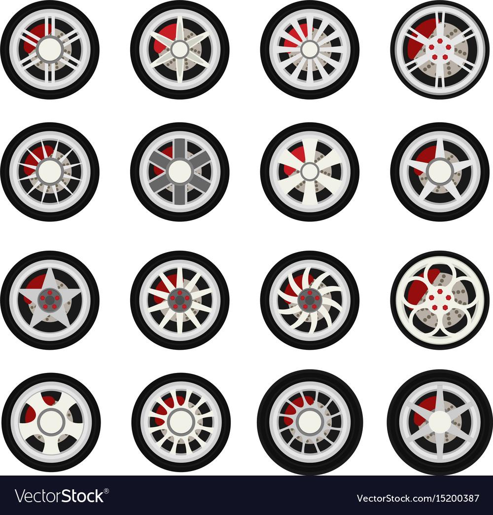 Flat wheels car vector image
