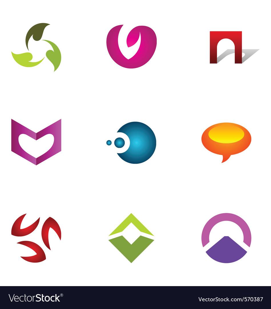 Logo design elements set 51 vector image