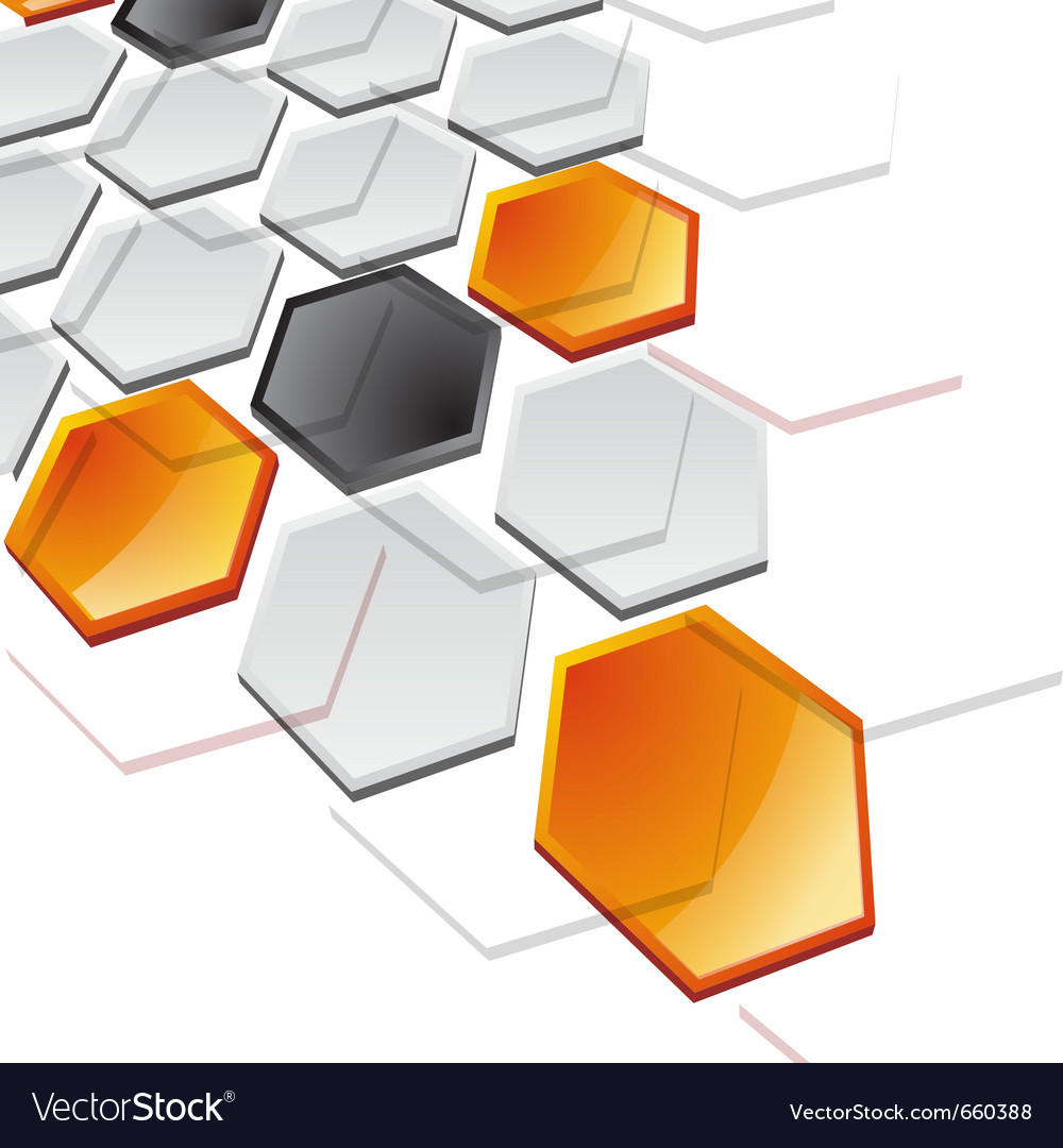 Abstract horizontal technology banner vector image