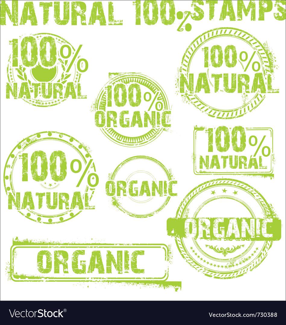 Natural - grunge stamps vector image