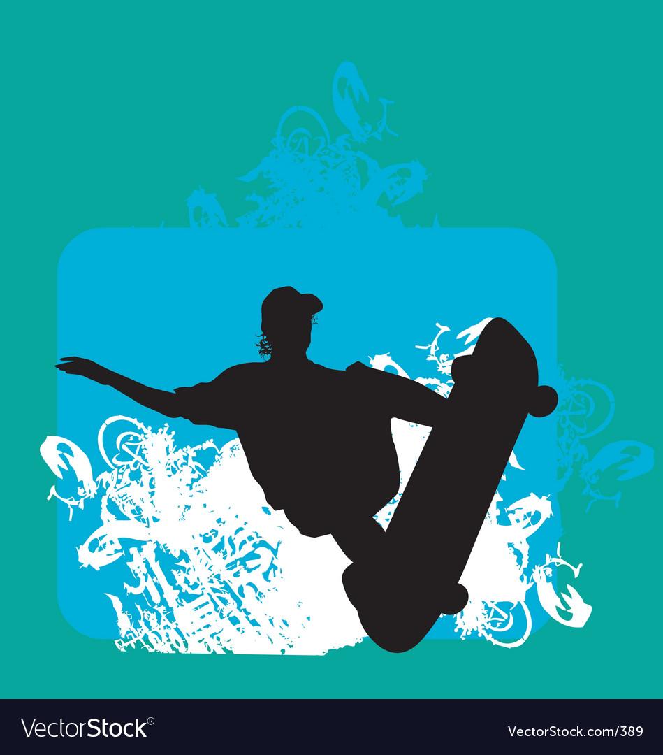 Skater indy backside grab vector image