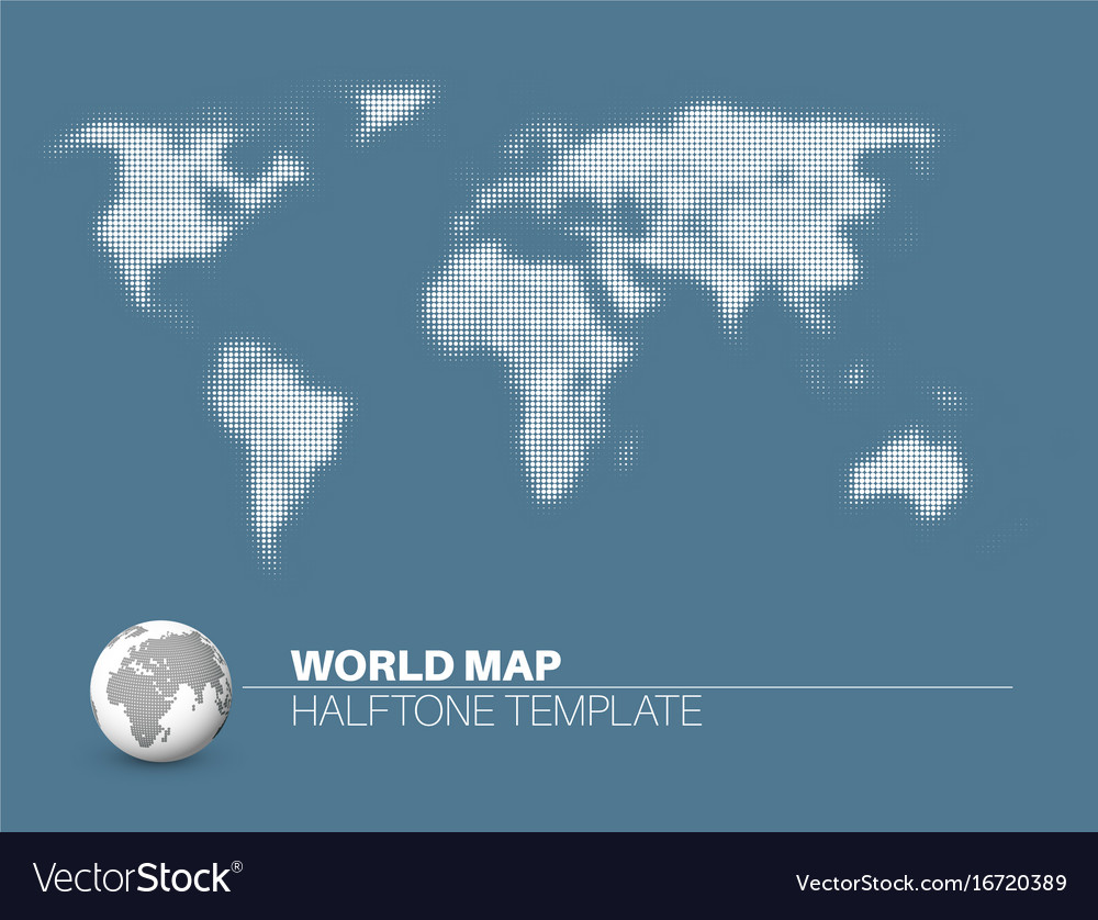 World map with halftone effect royalty free vector image world map with halftone effect vector image gumiabroncs Images