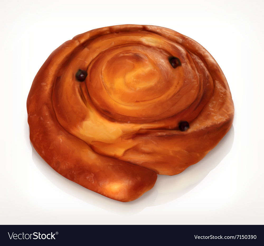 Danish pastry bakery icon vector image