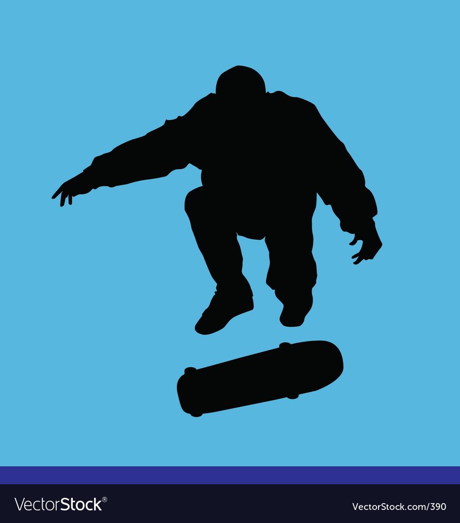 Skater kick flip vector image