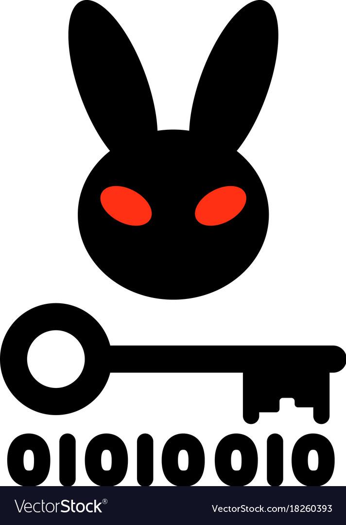 Bad rabbit ransomware virus vector image