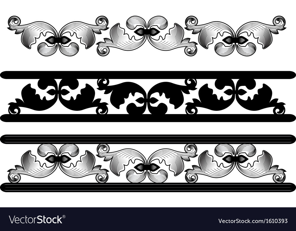 Carved pattern vector image
